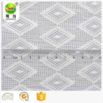 Экологичная ткань из 100% полиэстера и белого кружева