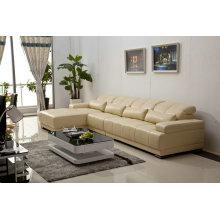 Sofá, sofá de canto, sofá secional de couro moderno (983)