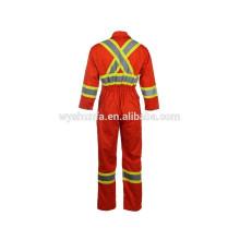 CSA Z96-09 tissu en poly-coton habillement professionnel rétroréfléchissant, veste haute visibilité