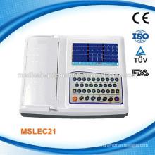 MSLEC21W ISO CE 12 canaux numérique portable EKG Machines / ECG Machine