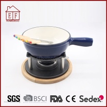 Set Besi Cor Enamel Melting Chocolate Cheese Fondue