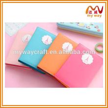 Design diferente de caderno de couro personalizado / diário fofo para meninas