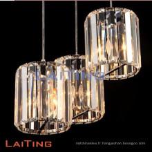 Grande vente moderne lustre pendentif lampe de lumière chrome plafonnier