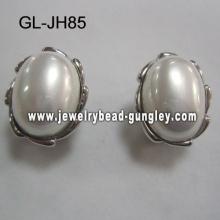 shell pearl stud earrings