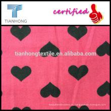 2016 Новая весна Дизайн для КАННА 100 хлопок с сердце формы печати саржевого переплетения шерсти чувство фланелевой ткани