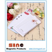 Cojín de notas magnético personalizado creativo del imán del refrigerador