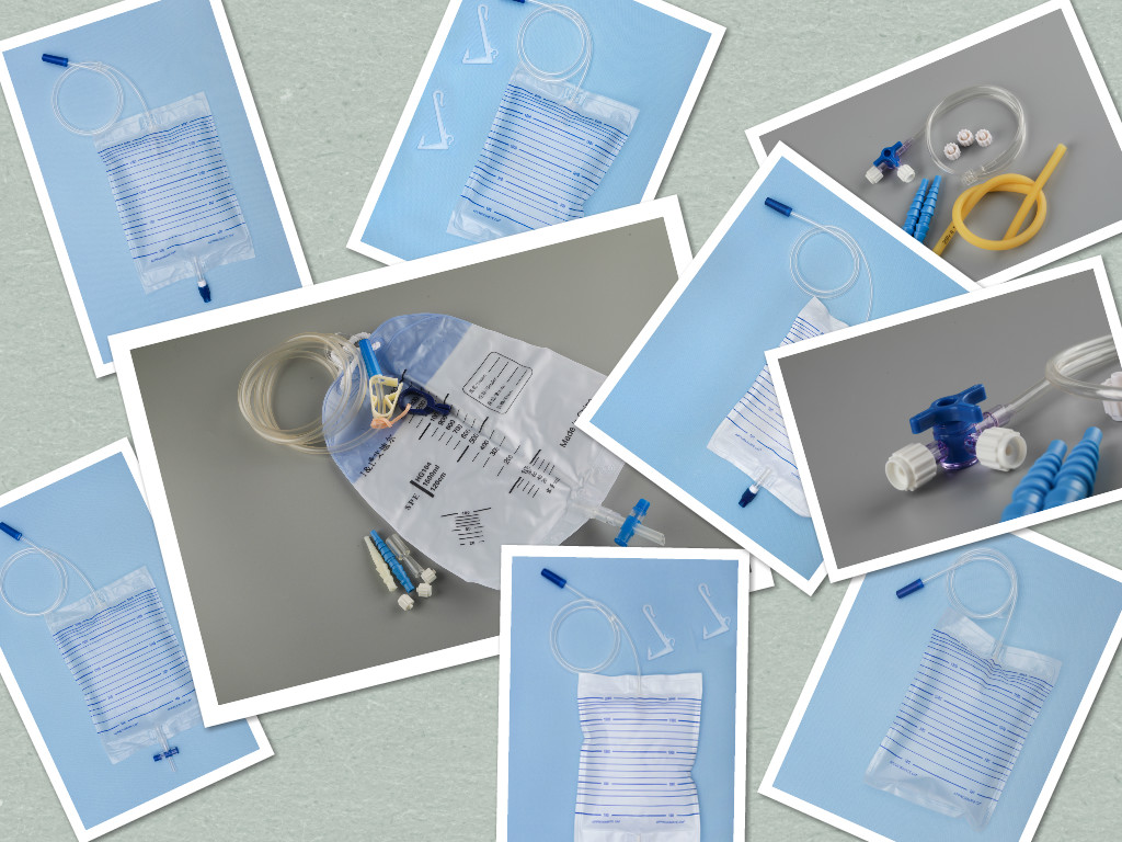 urine plastic bags and their accessories (pack)