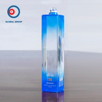 500ml Square Wine Spirit Glasflasche OEM