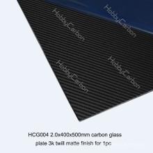 Multi-Anwendung Carbon Glasplatten für RC / Boote Tabelle 400 * 500 * 2,0 mm