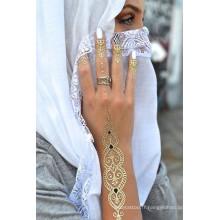 Autocollant de tatouage métallique tatouage au henné