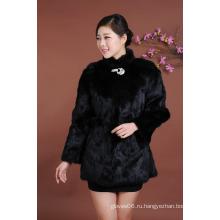 Высокое качество леди длинный стиль зимой меховой одежды женщин Мода Outwear теплый зимний мех пальто Оптовая