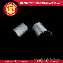 Grey flexible double side reflective thread
