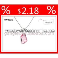 Swarovski crystal серебро кулон ожерелье