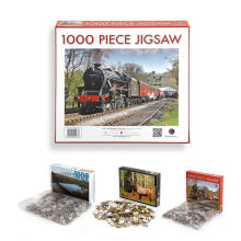 Custom brain game die cutting kids and adult  paper jigsaw puzzle 1000 pieces