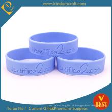 Eco-Friendly Recesso Logo Silicone Wristband com cor cheia Promoção Presente (KD1839)