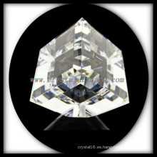 K9 Cristal blanco de alta calidad corte esquina cubo de cristal
