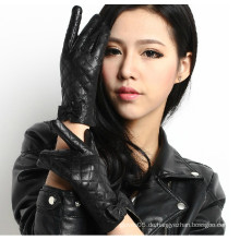 Hochwertige Mode gewaschen PU Leder Handschuhe