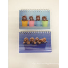 Custom High Quality 3D Notebook with Lovely Dogs and Cats Image