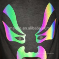 Screen printing heat reflective foil stickers in Aurora Rainbow color