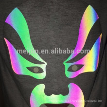 Pegatinas de papel reflectante de calor de impresión de pantalla en color Aurora Rainbow