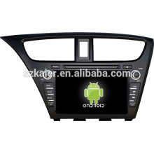 Android 4.4 Mirror-link Glonass / GPS 1080P multimedia del coche central para Honda Civic 2014 (Hatchback) con GPS / Bluetooth / TV / 3G