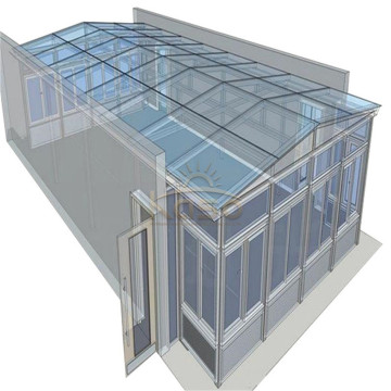 Solarium hexagonal escamotable 8X8