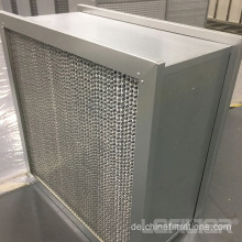Aluminiumrahmen Deep Pleat Box HEPA-Filter