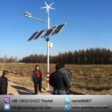 300W Wind Turbine vento Solar CCTV sistema de monitoramento