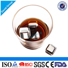 Promotional Stainless steel Premium whiskey cold stones Square shape