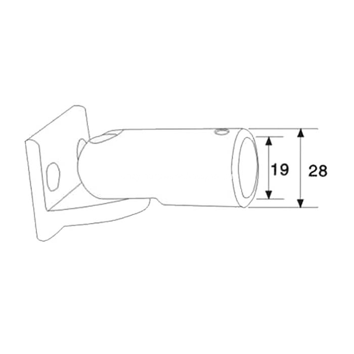 Handrail Pipe Connector Fittings For Shower Enclosure