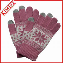 Acrylic Jacquard Touch Screen Glove for Promotion
