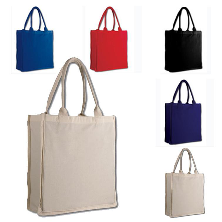 pure color shopping canvas bags