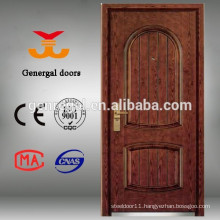 Security armored steel wooden door