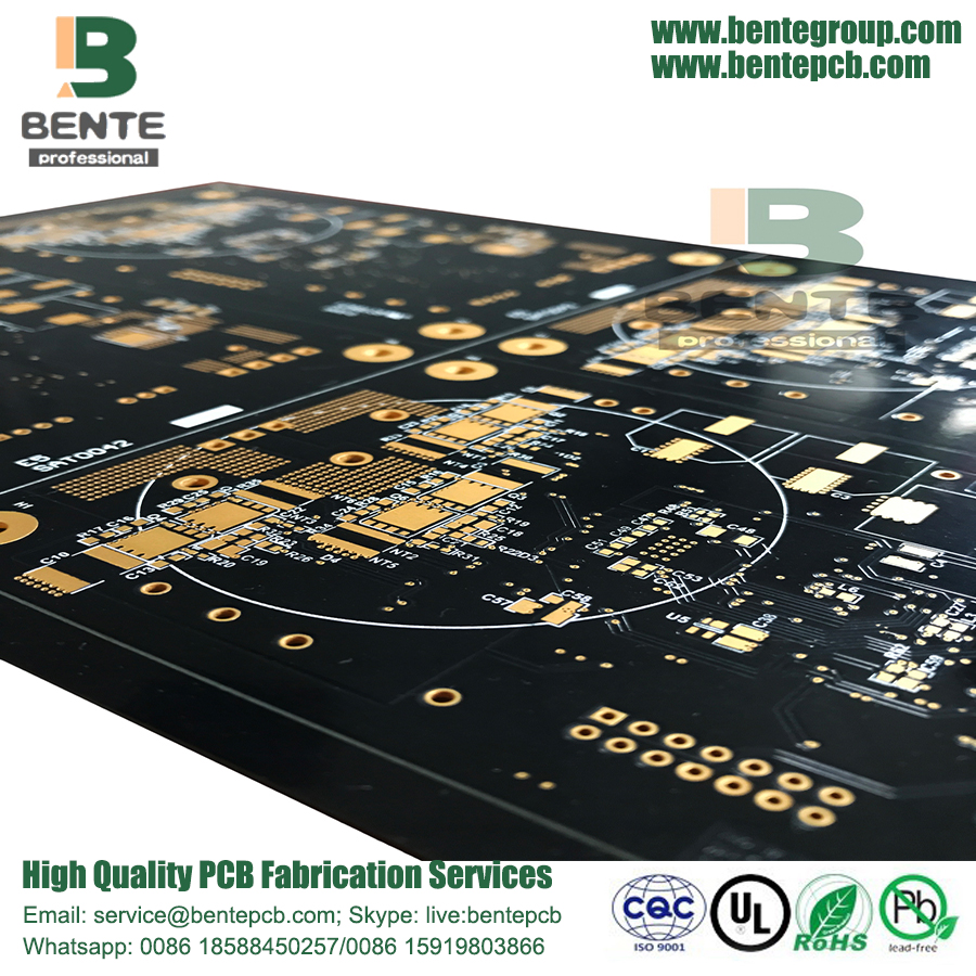 Black Ink 2 Layers PCB Prototype PCB FR4 Tg135  ENIG