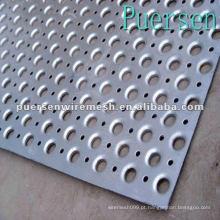 Folha de metal perfurada de alumínio decorativo de 0.14mm (fábrica + Compny)
