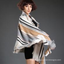 Fashion Scarf with Yarn-Dyed Technology