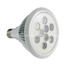 Aletas de enfriamiento en PAR38 Lámpara LED de aluminio para proyectores 9W