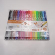 Нетоксичен 18 Цвета Со Стержнем Капиллярной Ручки Ручки, Тонкая Линия Маркер