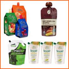 Food Safty Stand Up Juice Drink Spout Top / Spout Side Pouch Bag Al Foiled