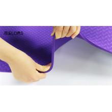 Tapete de ioga Melors roxo dupla face textura Tpe