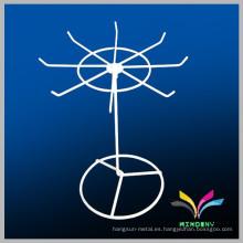 Nuevo diseño moderno giratorio de metal de alambre mostrador mostrador de la joyería