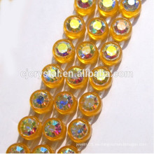 Rhinestone cristalino, cadena del latón de la taza del rhinestone, acoplamiento del Rhinestone