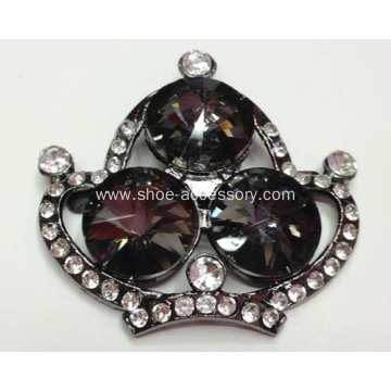 Crown Rhinestone Shoe Buckles
