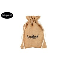 Promotion jute drawstring bag from factory