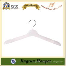 Percha de ropa de plástico blanco de lujo