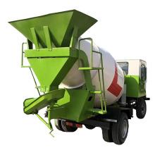 China Cement mortar automatic feeding mixing truck concrete stirring tank transport equipment