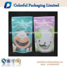 Saco de chá com zíper transparente com frutas secas / transparentes / porca / saco de zíper para lanche
