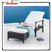Piscina acolchada de alta calidad Sun Lounger Leisure Rattan Sunbed