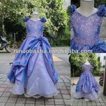 СЗ-417 аппликации с Top Штапики тафты платье девушки цветка