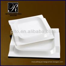 P & T porcelana chaozhou, pratos quadrados, placas de jantar quadrado PT2038